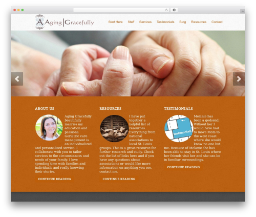 Peacemaker theme WordPress - aginggracefully-stl.com