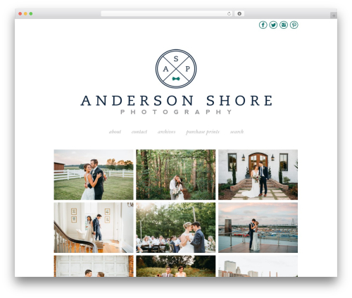 ProPhoto photography WordPress theme - andersonshore.com
