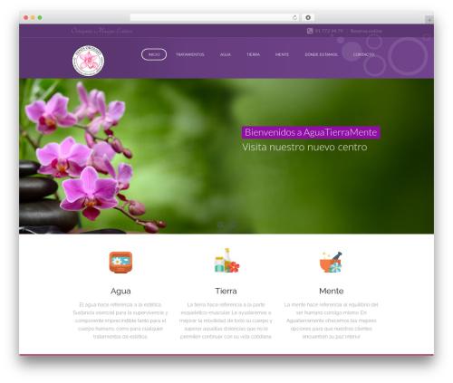 SpaLab WordPress theme - aguatierramente.com