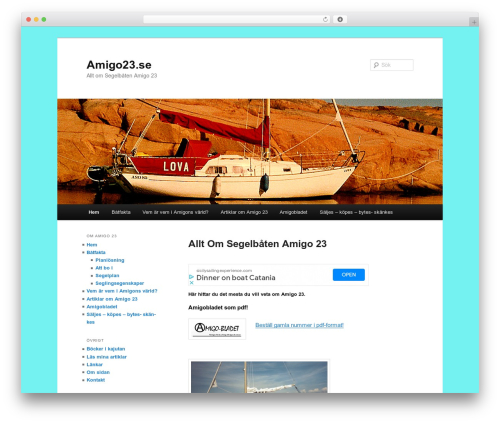 Twenty Eleven free website theme - amigo23.se