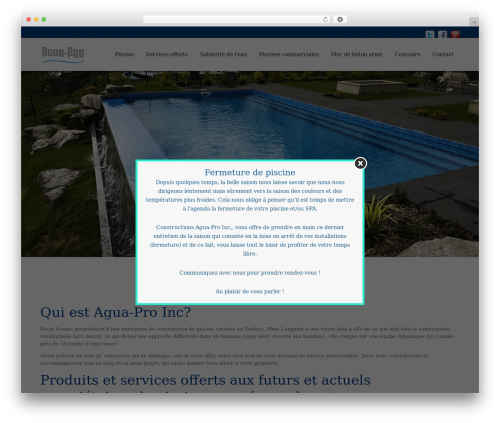 WebFlow theme WordPress - agua-pro.com