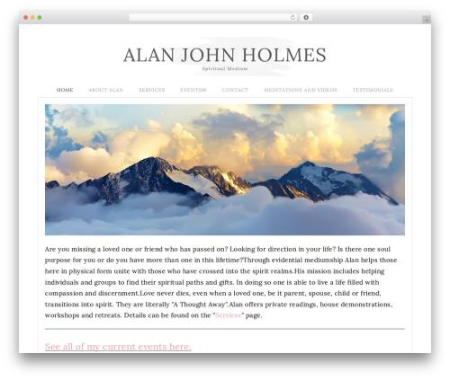 WordPress theme Flourish Theme - alanjohnholmes.com