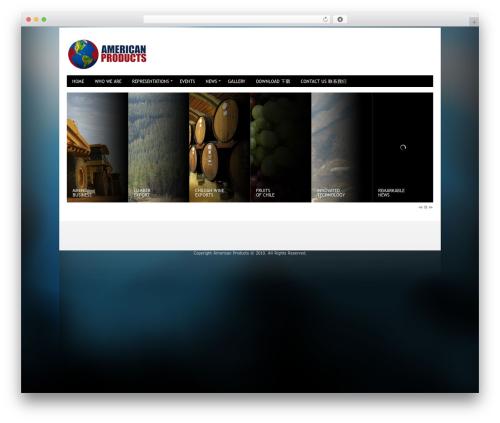 WordPress theme Innovation+Science - americanproducts.cl