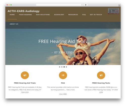 Austin WordPress theme - activ-ears.com.au
