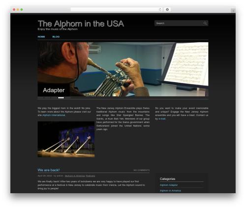 Clean Slate WordPress theme - alphornusa.com
