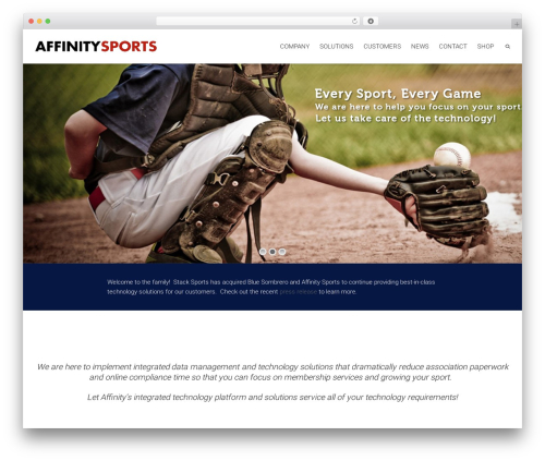Dante WordPress gaming theme - affinity-sports.com