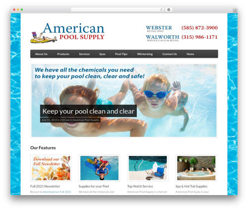 Function WordPress website template - americanpoolsupplyinc.com