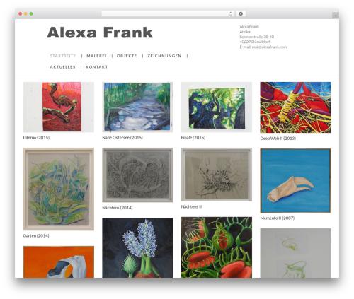 Grid Based Responsive WordPress Theme best WordPress template - alexafrank.de