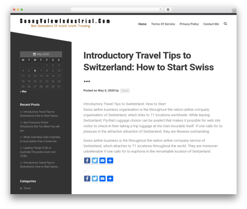 Minimer WordPress travel theme - sunnyvalewindustrial.com