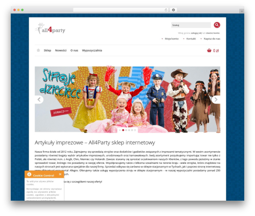 Shoppica WordPress ecommerce theme - all4party.pl
