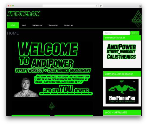 SKT Strong WordPress free download - andipower.com