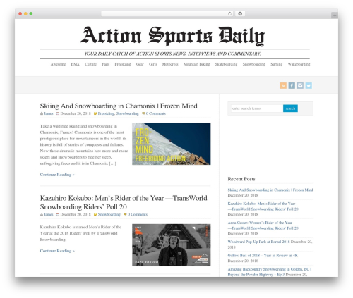 WordPress template WP-Brilliance - actionsportsdaily.com