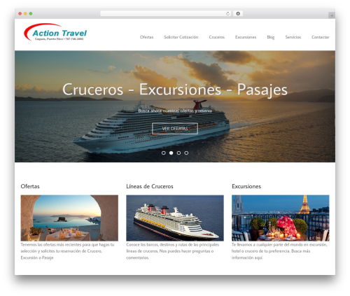 WordPress theme Nestor - actiontravelcaguas.com