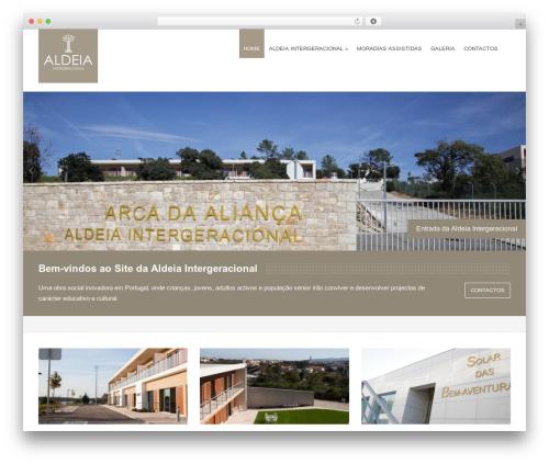 WordPress website template Victoria - aldeiaintergeracional.com
