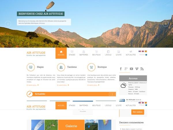 Air Attitude WordPress news template