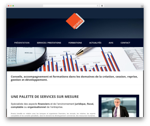 Beautiful best WordPress template - anaxia.fr