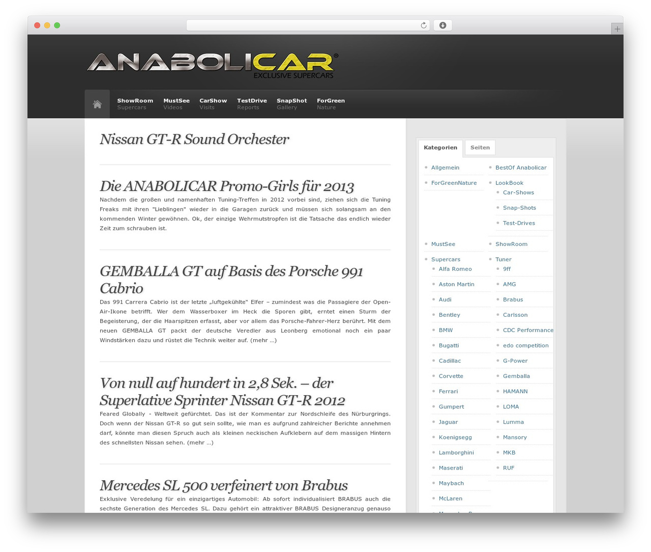 Best WordPress template Revolution - anabolicar.de
