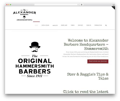 WordPress x-email-mailchimp plugin - alexanderbarbershq.com