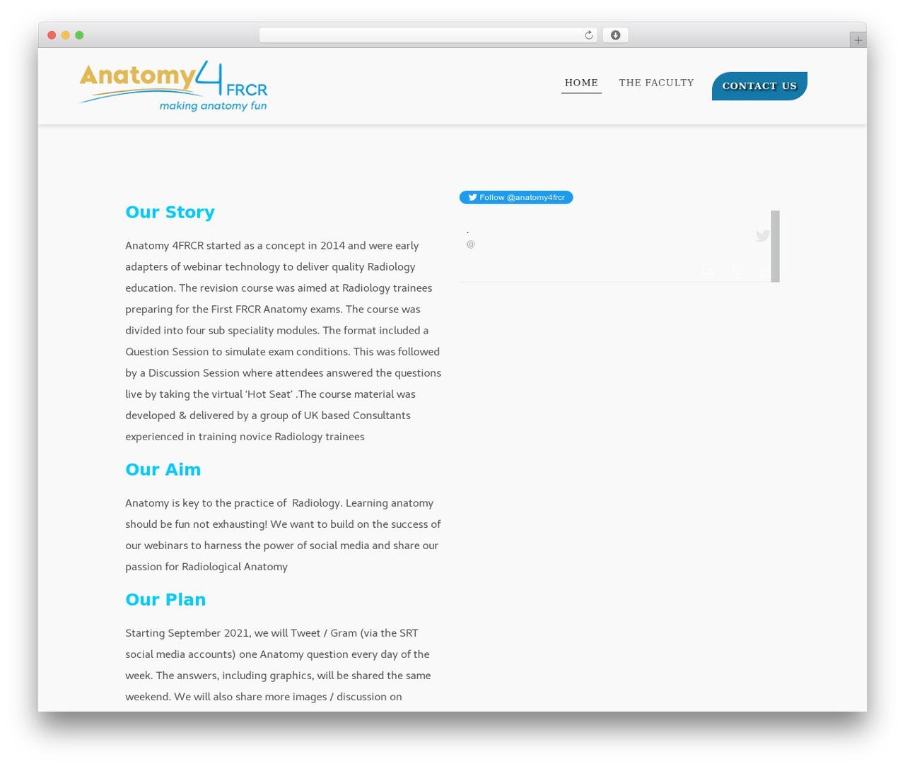 Flexia best free WordPress theme by Codetic - anatomy4frcr.com