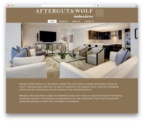 Genesis WP theme - aftergutwolfinteriors.com