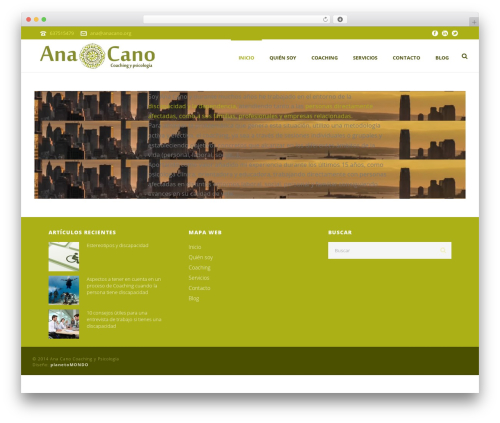 Jupiter WordPress theme - anacano.org