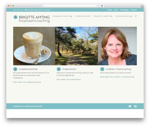 WordPress theme Divi - amtingloopbaancoaching.nl