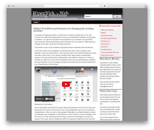 alibi WordPress theme design - wysernirk.ch
