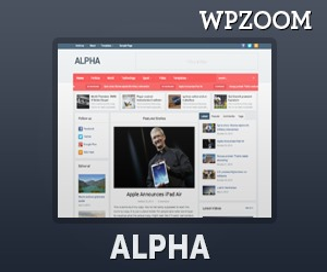 Alpha Theme WordPress magazine theme