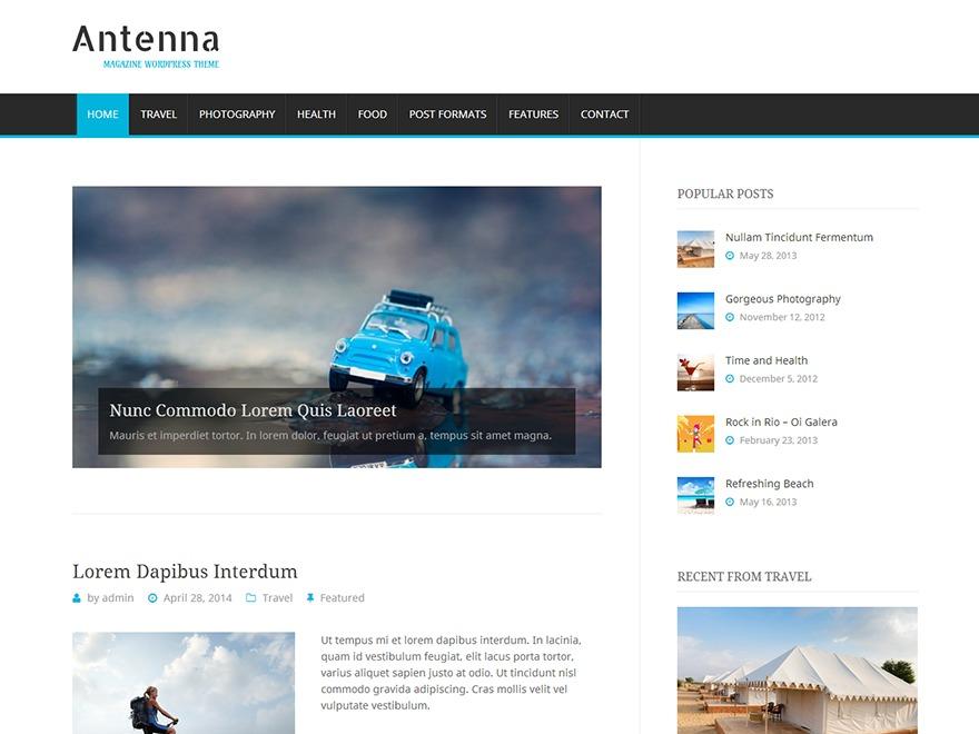 Antenna best WordPress magazine theme