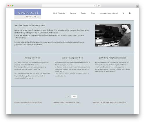 Avada WP template - westcoastproductions.nl
