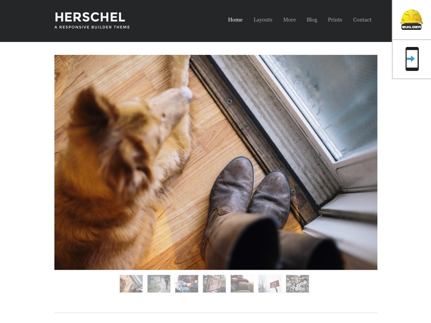 Best WordPress template Herschel