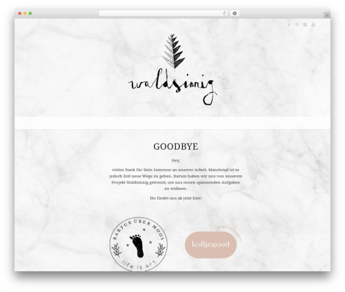Best WordPress theme Enfold - waldsinnig.de