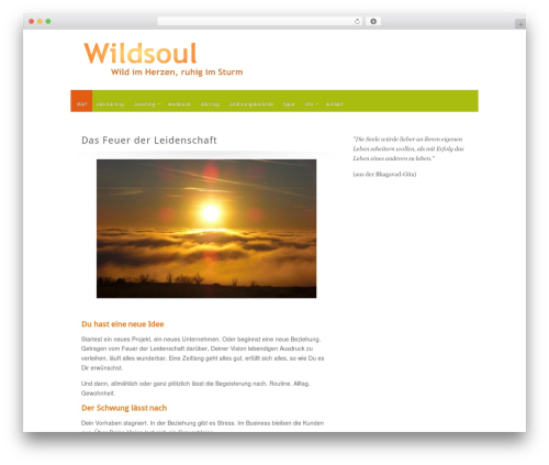 Best WordPress theme Zephyr - wildsoul.de