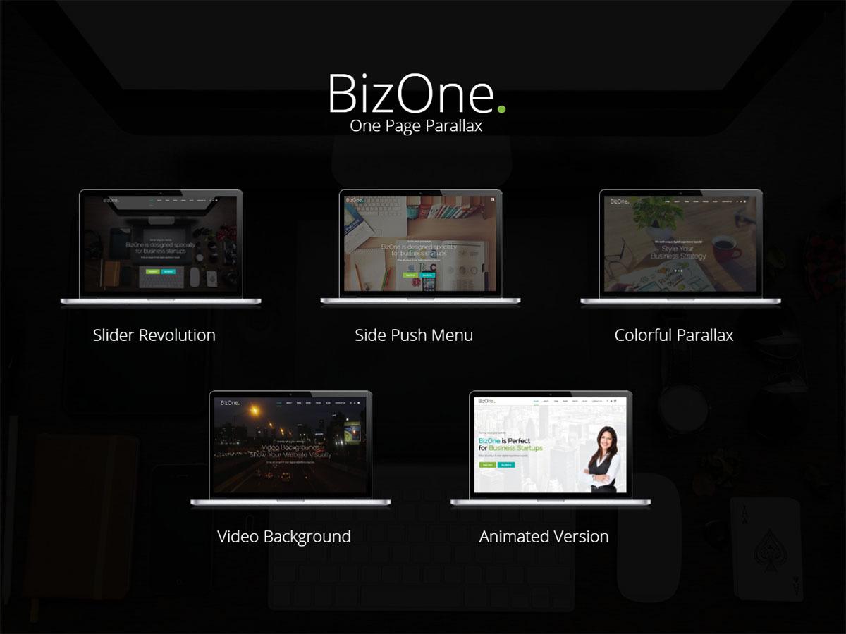 Bizone WordPress template for business