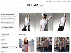 Boemia WordPress ecommerce template