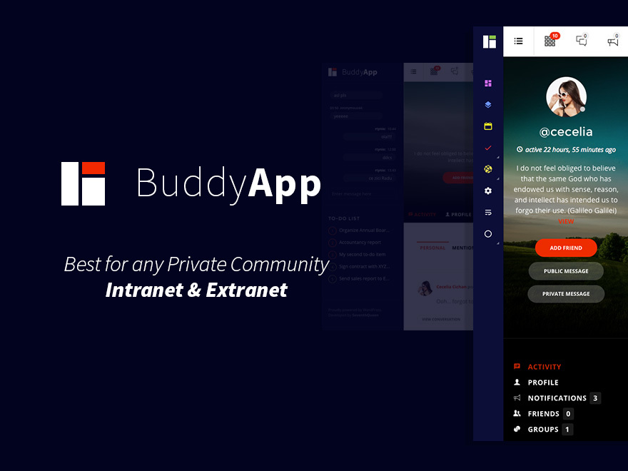 BuddyApp template WordPress