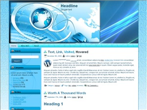 Business Propects WordPress template for business