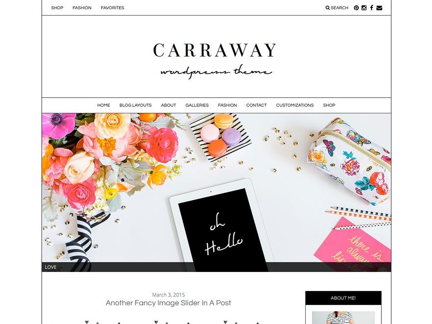 Carraway - Premium WP template
