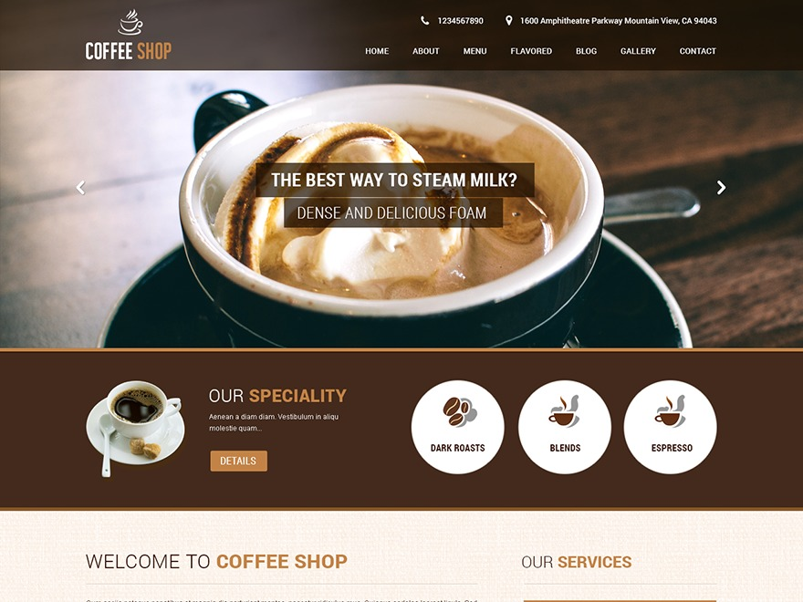 Coffee Pro WordPress store theme