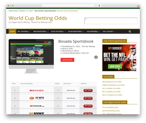 ColorMag best free WordPress theme - worldcupbettingodds.com