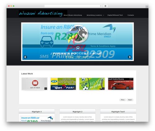 Complete template WordPress - wozaniadv.co.za