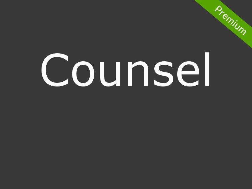 Counsel WordPress blog template