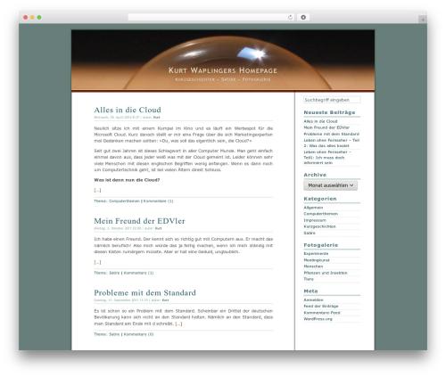 Dialogue WordPress theme - waplinger.de