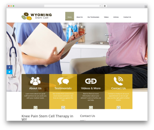 Divi medical WordPress theme - wyostemcells.com