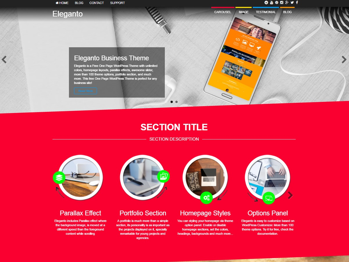 Eleganto WordPress ecommerce template