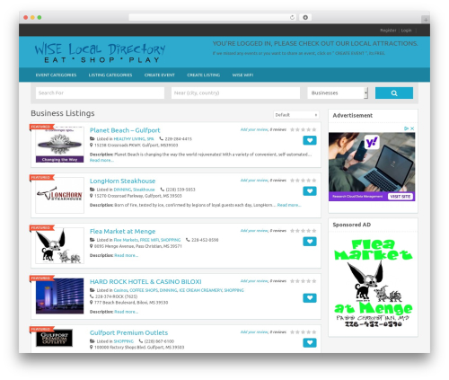 FlatPage WordPress template - wiselocaldirectory.com