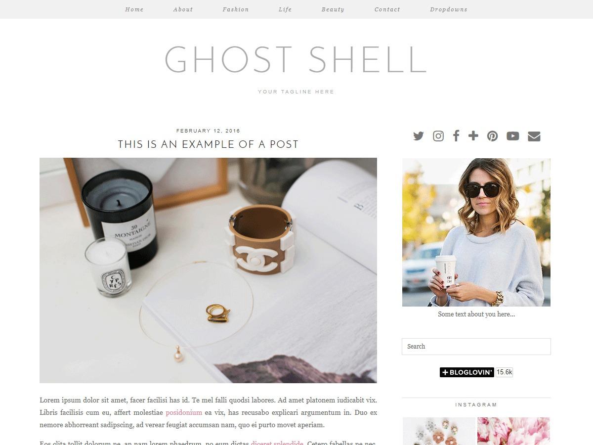 Ghost Shell (pipdig) WordPress theme