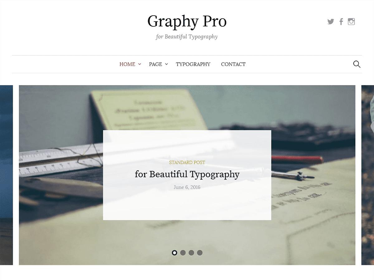 Graphy Pro WordPress blog template