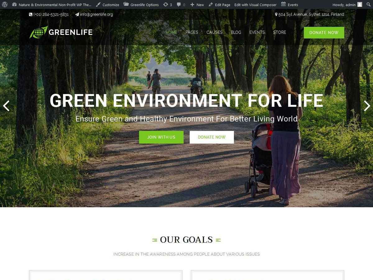 GreenLife WordPress blog template