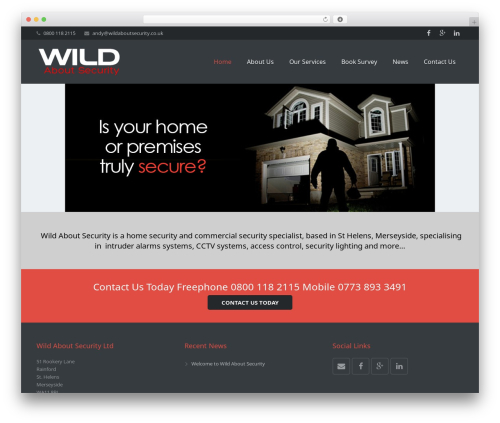Impreza WordPress theme - wildaboutsecurity.co.uk